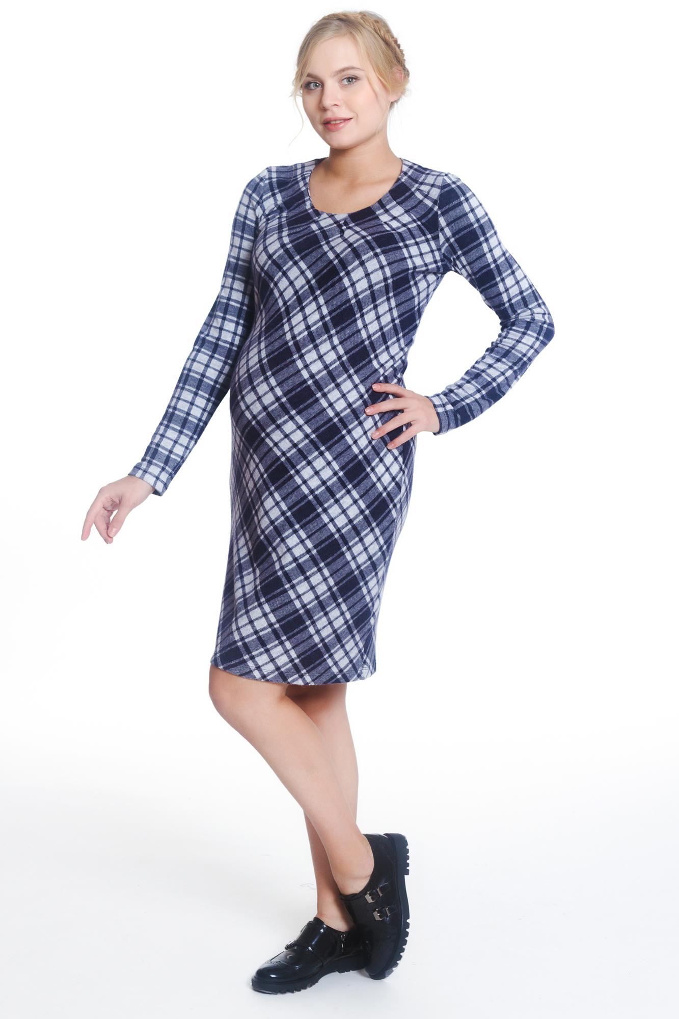 Платье для беременных 05892 синий