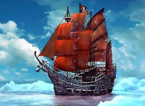 Алмазная Мозаика 40x50 Спокойное путешествие корабля (арт. SGJ73232)