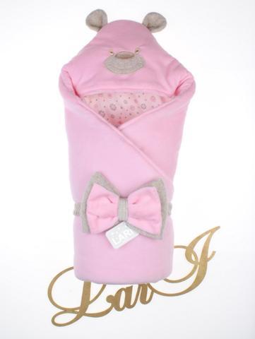 Велюровый конверт Одеяло Панда (розовый)