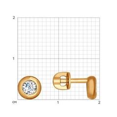 027240-Серьги-пусеты из золота с фианитами от SOKOLOV