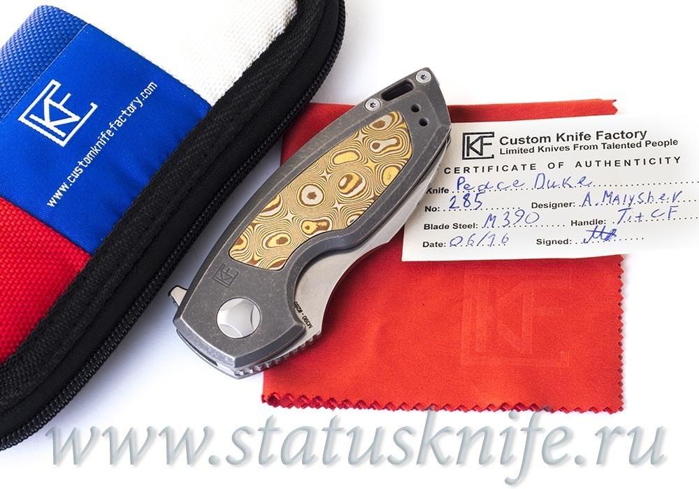Нож CKF PeaceDuke М390, Мокумэ Кастом, дизайн Малышев