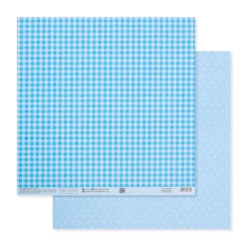 Бумага для скрапбукинга «Голубая базовая», 30.5 × 32 см, 180 гм