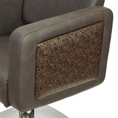 Парикмахерское кресло ОДРИ ДЕКОР гидравлика хром, квадрат хром