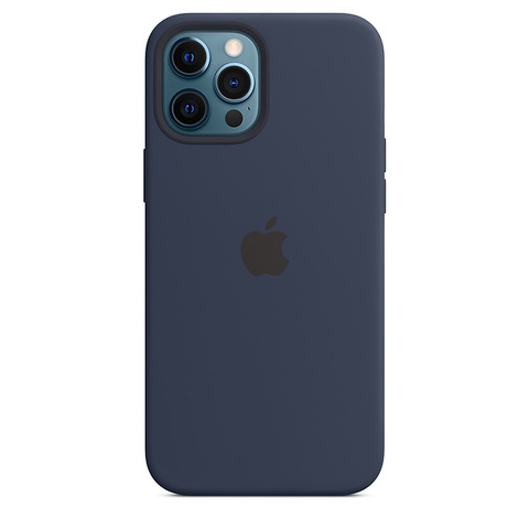 Чехол IP12 PRO MAX Silicone Case Deep Navy