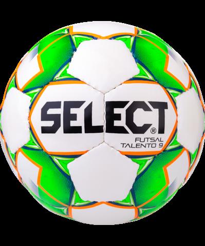 Мяч футзальный Talento 852615, U-9, №2, белый/зеленый/оранжевый