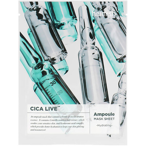 Heimish Cica Live Ampoule Mask Sheet Тканевая маска с центеллой