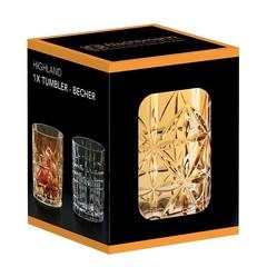 Оранжевый хрустальный стакан для виски Highland, 345 мл, фото 1