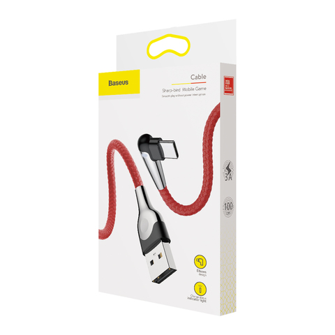 Кабель Baseus sharp-bird mobile game cable USB For Type-C 3A 1M Red