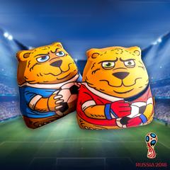 Подушка-игрушка антистресс Gekoko «Медведь-вратарь» 3