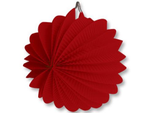 1412-0080 Фонарик бум круглый красный 25см/G