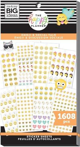 Блокнот со стикерами для ежедневника Create 365 Happy Planner Sticker Value Pack-BIG - emoji, 1608 шт