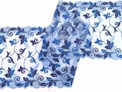 Вышивка на сетке, 23 см, голубой/синий, (Арт: VS-1016), м