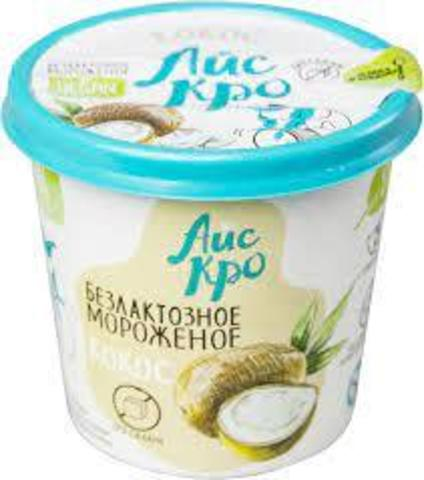 Мороженое Кокос Веганское б/сах 75г стакан