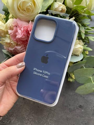 Чехол iPhone 13 Pro Silicone Case Full /deep navy/