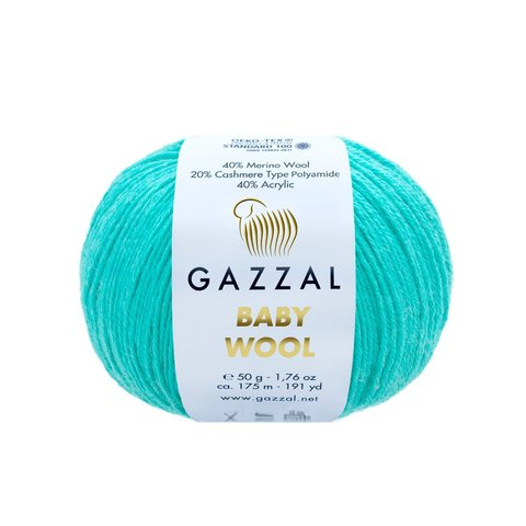 Пряжа Gazzal Baby Wool 832 лазурь