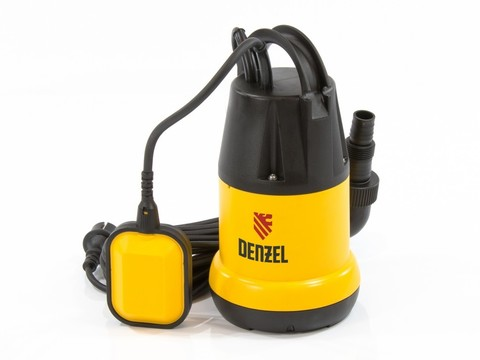 Дренажный насос DP250, 250 Вт, подъем 6 м, 6000 л/ч Denzel