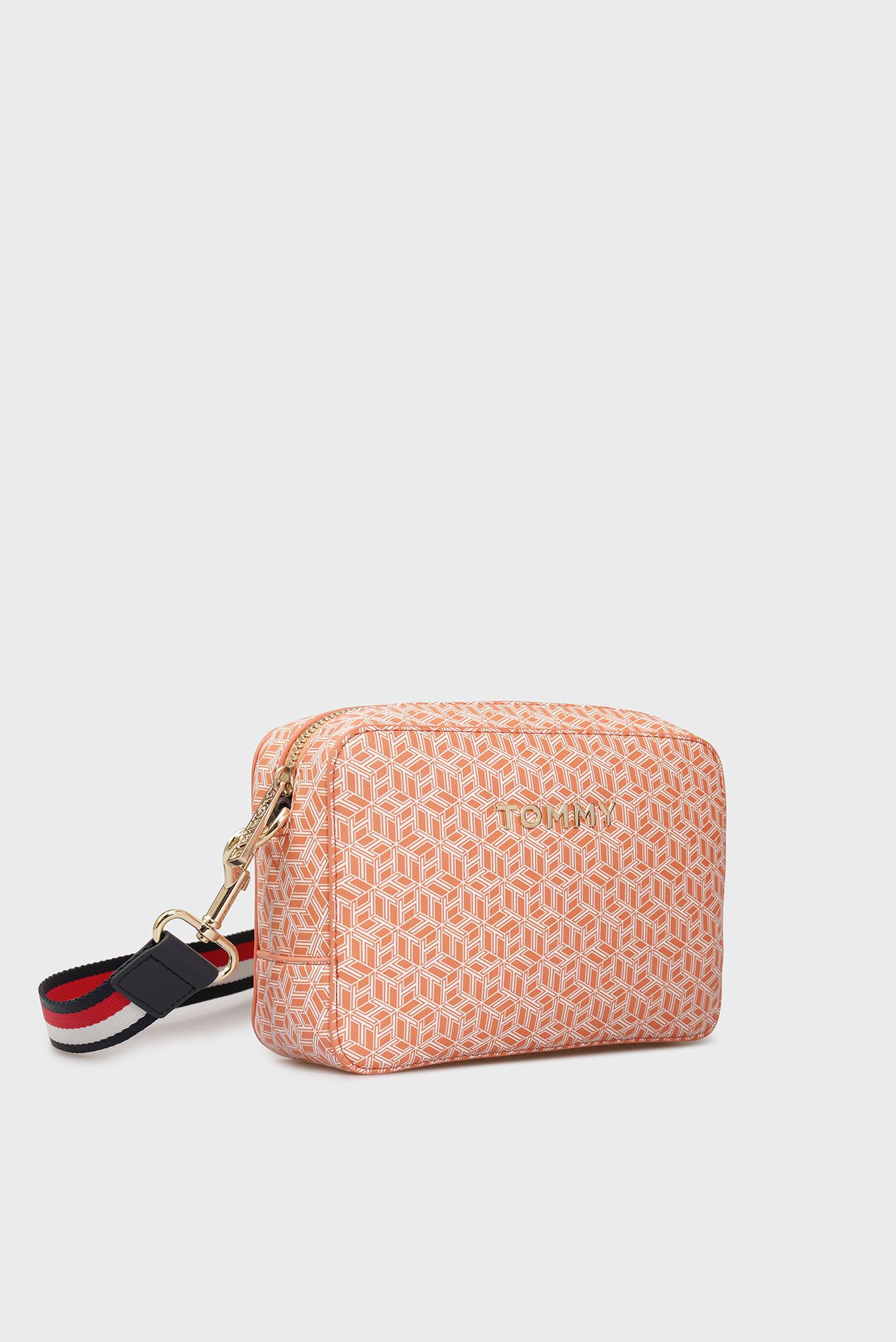 Женская персиковая сумка через плечо с принтом ICONIC Tommy Hilfiger