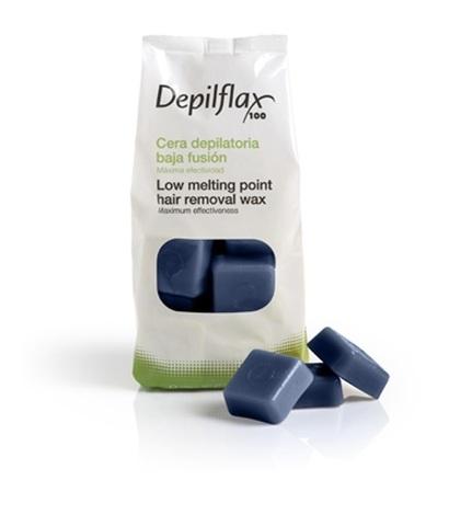 Горячий воск в брикетах Depilflax 100, азуленовый, 1000 гр