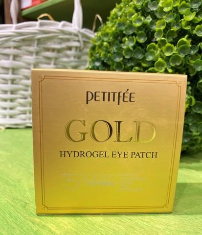 Гидрогелевые патчи для глаз с золотом и жемчуж пудрой Petitfee 60шт