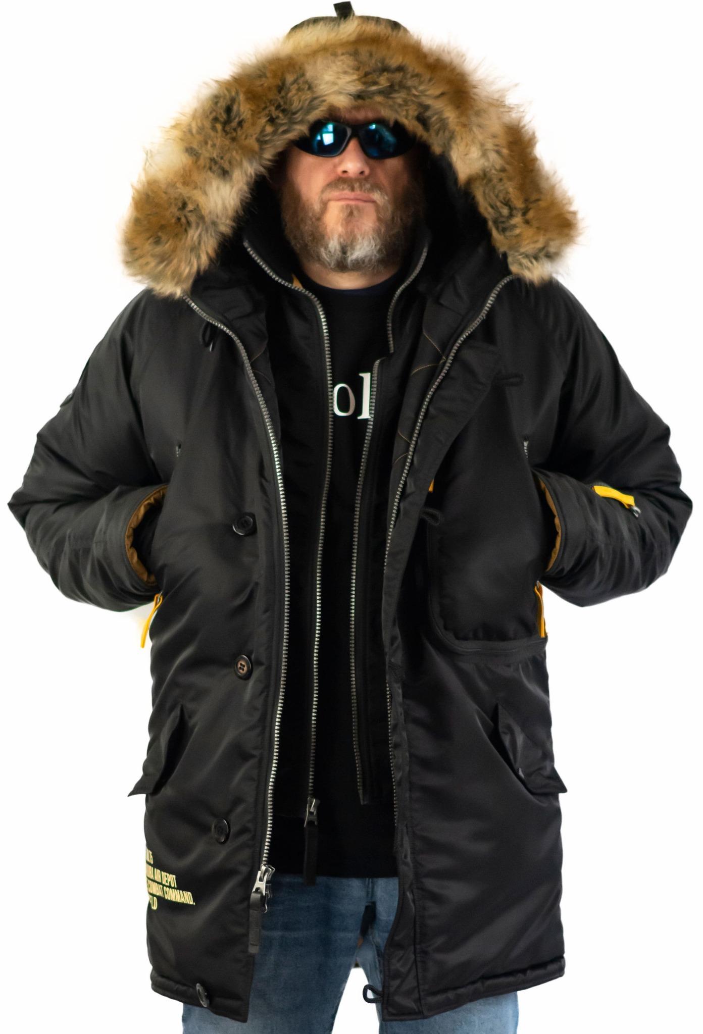 Куртка Аляска  Apolloget Expedition 2019 (черный/желтый - black/cinamon)