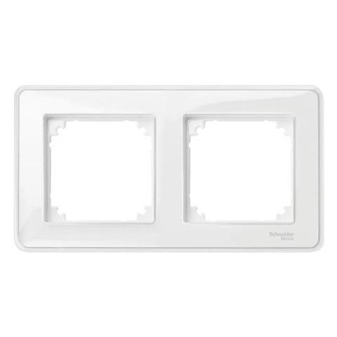 Рамка на 2 поста. Цвет Прозрачный. Merten. M-Creativ System M. MTN4020-3500