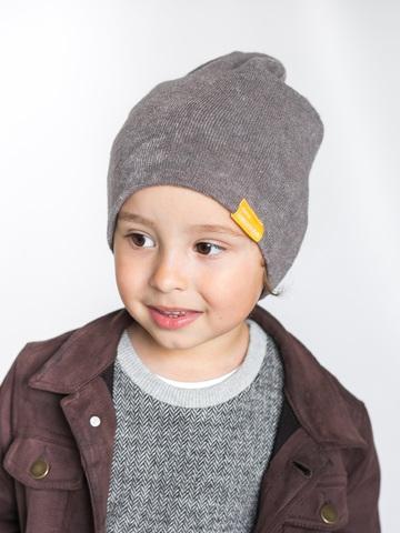 детская шапка из турецкой шерсти темно-серая