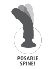 Вибромассажер 3в1 на съемной присоске 8 Vibrating Cock with Balls