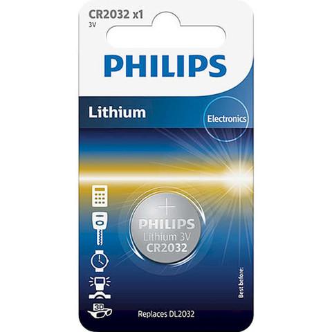 Батарейки литиевые Philips CR 2032/1bl