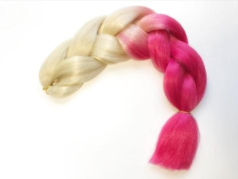 Канекалон B08 (омбре из блонд в розовый)