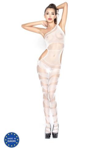 Эро-комбинезон асимметричного плетения (041) белый
