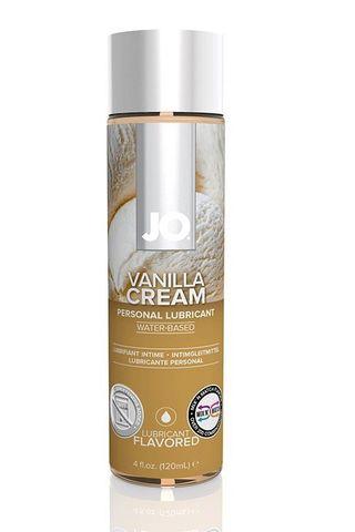 Лубрикант на водной основе с ароматом ванили JO Flavored Vanilla H2O - 120 мл.