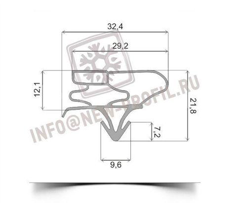 Уплотнитель 97*57 см для холодильника LG GR-339 GLS (холодильная камера) Профиль 003