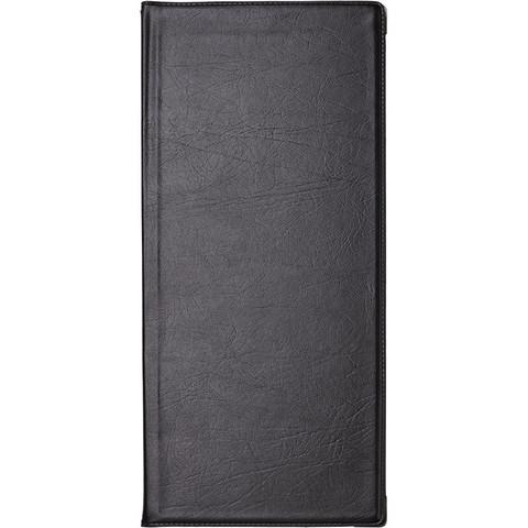 Визитница настольная Koh-I-Noor Gama пластиковая на 112 визиток черная (с уголками)