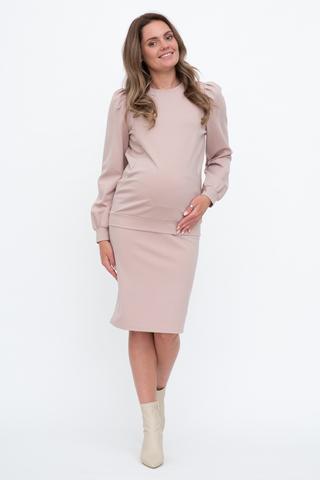 Костюм для беременных и кормящих 12992 пудра