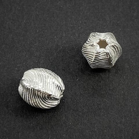Бусина Гелика 9х7,5 мм серебро 925