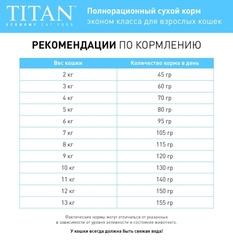 TITAN Economy Adult Cat Food корм для взрослых кошек 10 кг