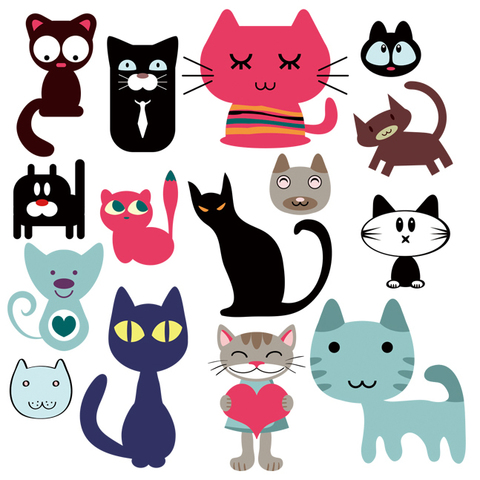 Печать на вафельной бумаге, Набор кошки 3