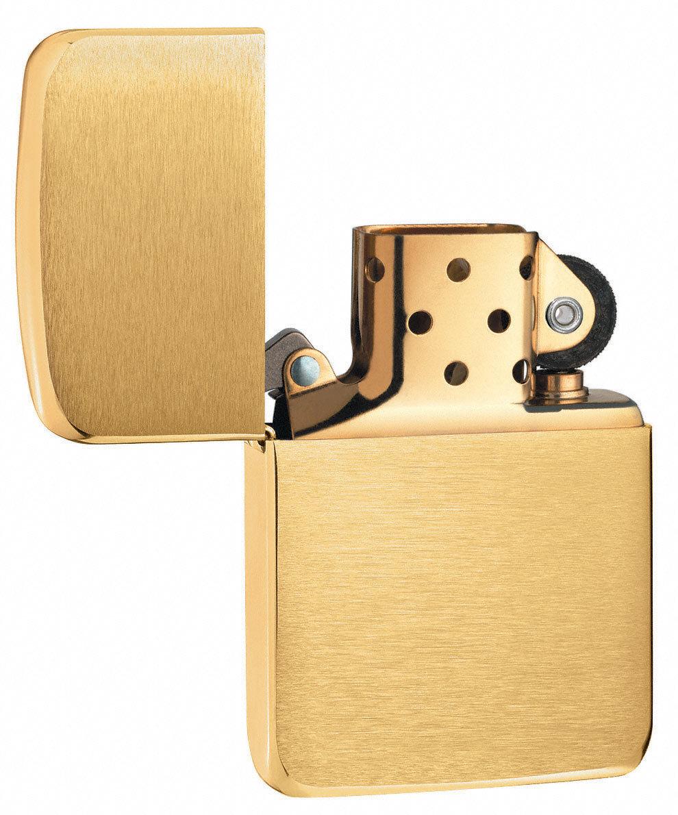 Зажигалка Zippo Replica, с покрытием Brushed Brass, латунь/сталь, золотистая, матовая, 36x12x5