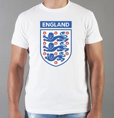 Футболка с принтом FC England (Сборная Англии) белая 002