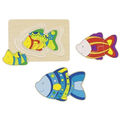 Пазл мноослойнвый Рыбки