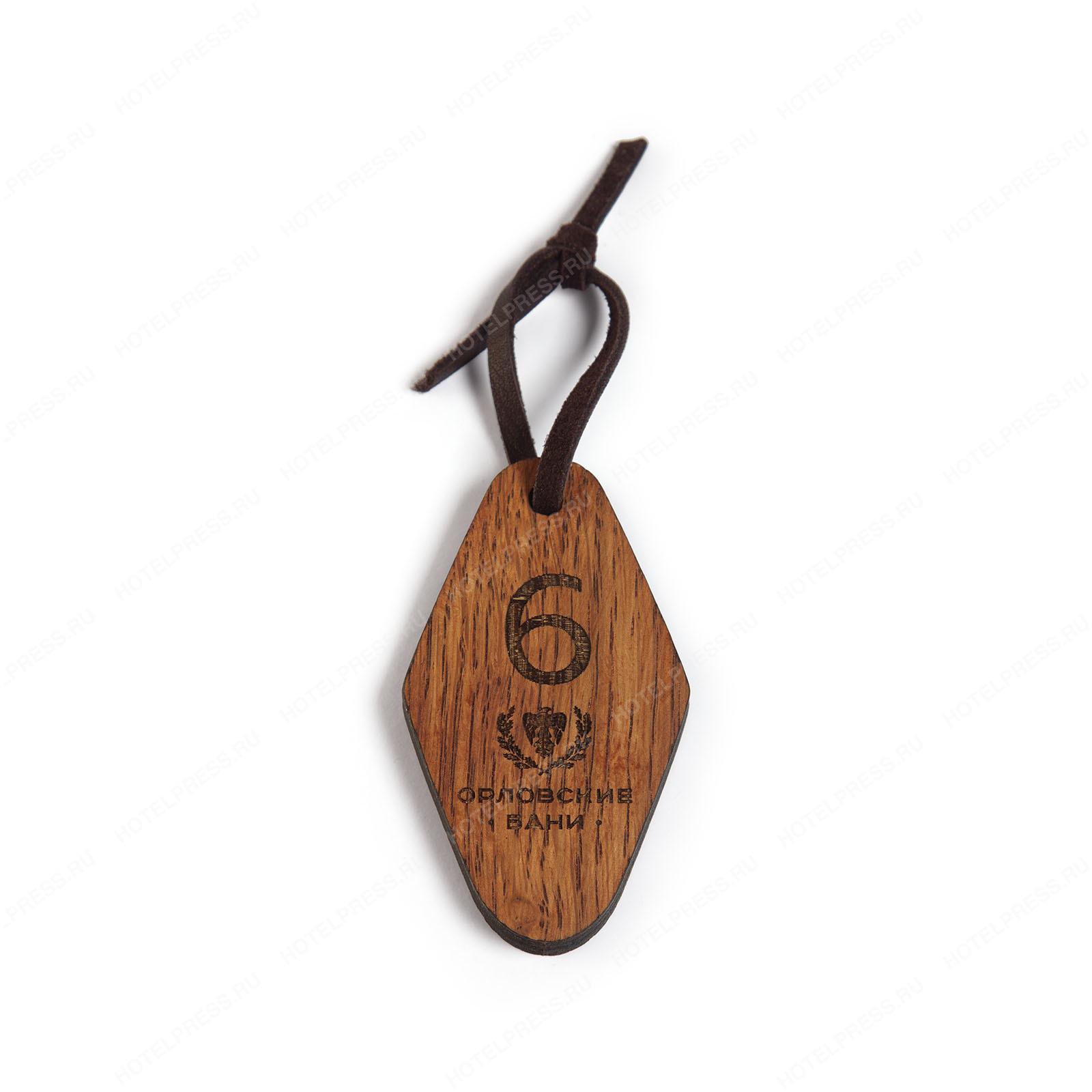 Номерок из дерева для «Орловские бани»