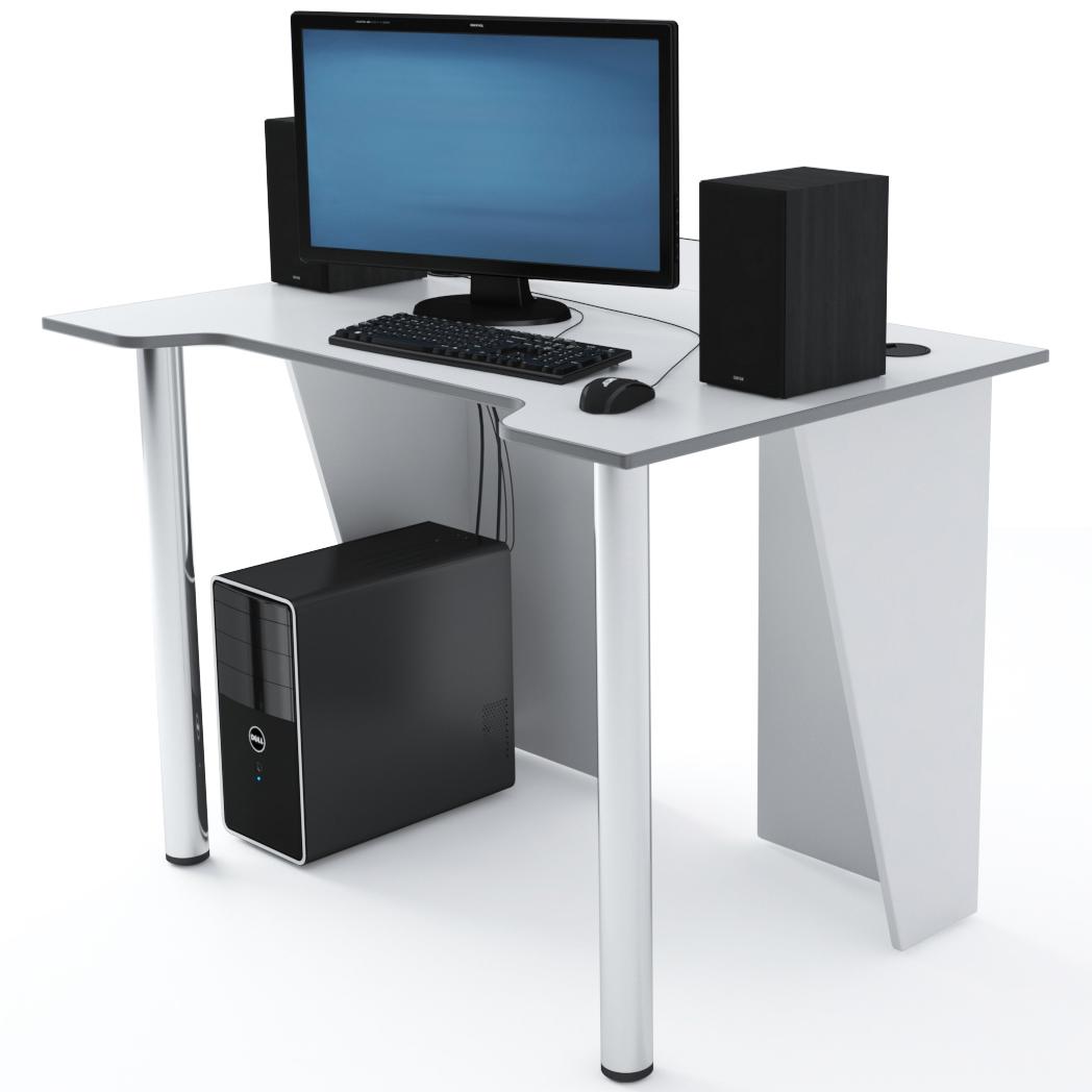 Стол Компьютерный LevelUP 1100 Белый/Серый