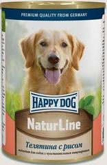 Консервы для собак Happy Dog NaturLine, телятина с рисом