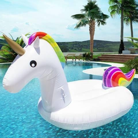 Надувной матрас единорог белый Unicorn