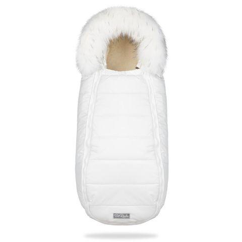 Зимний конверт для новорожденного на выписку и прогулку Baby XS Белый с Опушкой