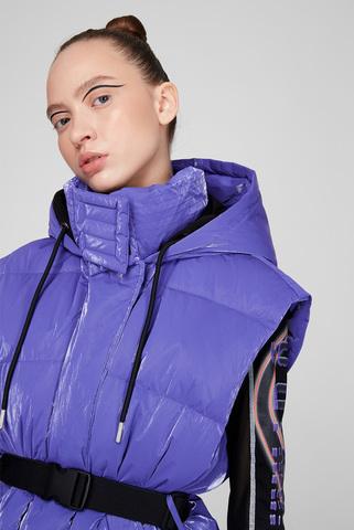 Женский фиолетовый пуховой жилет W-LALLA-SL-SHORT Diesel