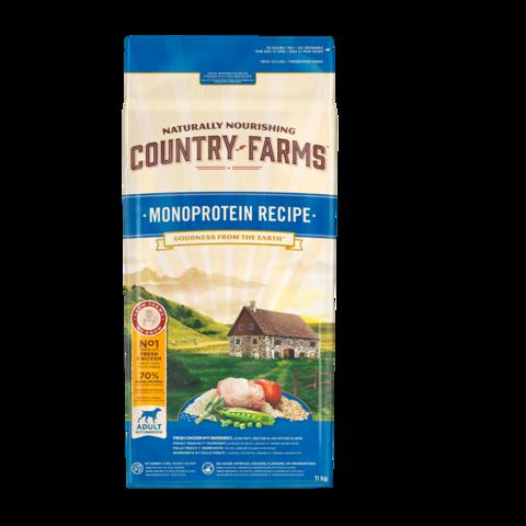 Country Farms Monoprotein Recipe Сухой корм для взрослых собак с высоким содержанием курицы монопротеиновый, полнорационный