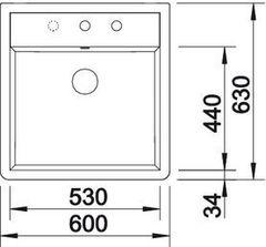 Мойка кухонная Blanco Panor 60 - вид сверху