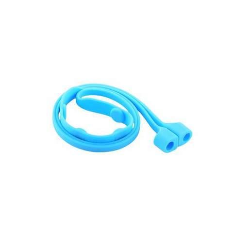 Гарнитура силиконовая COTEetCI для AirPods CS8107-BL Rope Голубая