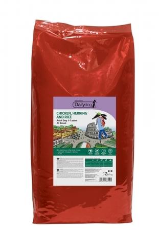 DailyDog Adult All Breed сухой корм для взрослых собак всех пород с курицей, сельдью и рисом 12 кг